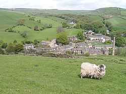 Lothersdale from the Pennine Way