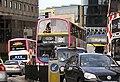 Lothian Buses buses in Leith Street June 2010.jpg