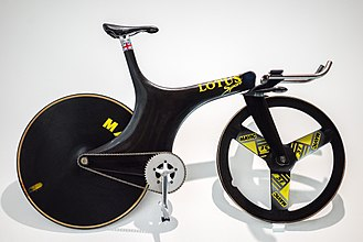 Chris Boardman - The Lotus 108 bicycle Boardman used to win the 4 km individual pursuit at the 1992 Summer Olympics