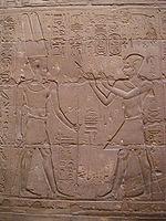 Alexandre en pharaon priant le dieu Amon - Temple de Louxor
