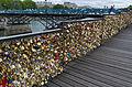Love padlocks on the pont des Arts, Paris 12 June 2015.jpg