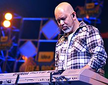 Loy Mendonsa performing with Shankar-Ehsaan-Loy trio at Idea Rocks India concert at NICE Grounds in Bangalore, India. (photo - Jim Ankan Deka)