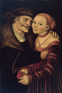 Lucas Cranach The Elder - The ill-matched couple - Google Art Project.jpg