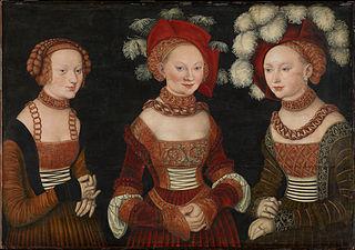 Die Prinzessinnen Sibylla (1515-1592), Emilia (1516-1591) und Sidonia (1518-1575) von Sachsen