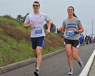 Running - Marathon runners at Carlsbad Marathon, USA, 2013