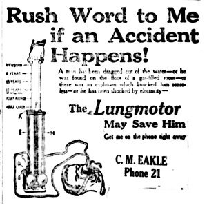 "Resuscitator - Early ""Lungmotor"" resuscitation device"