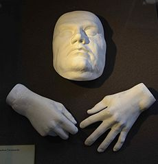 Casts of Luther's face and hands at his death, in the Market Church in Halle[272]