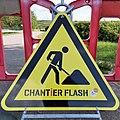 Luxembourg road sign A,15 chantier flasch.jpg