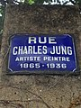 Lyon 8e - Rue Charles Jung - Plaque (mai 2019).jpg