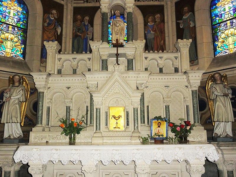 Mécrin (Meuse) église Saint-Evre autel