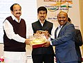 M. Venkaiah conferred the National Awards for Excellence in Journalism, at the Golden Jubilee celebrations of the Press Council of India, on the occasion of the National Press Day, in New Delhi (4).jpg