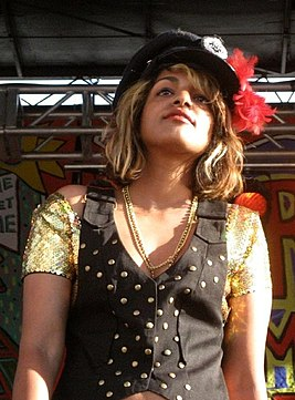 M.I.A. at the Siren Music Festival in July 2007