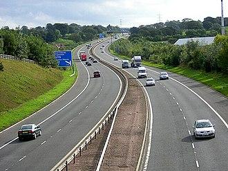 M77 motorway - Image: M77 at Newton Mearns geograph.org.uk 247095