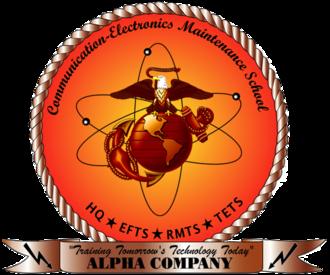 Marine Corps Communication Electronics School - Alpha Company Logo