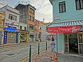 MC 澳門 Macau Tour 官也街 Rua do Cunha sidewalk shops n visitors Oct-2013 ZR2.JPG