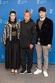 MJK 09360 Mina Fujii, Kim Ki-duk and Lee Sung-Jae (Human, Space, Time and Human, Berlinale 2018).jpg
