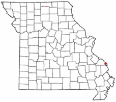 Location of Altenburg, Missouri