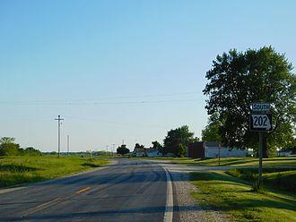 Missouri Route 202 - MO 202 in Coatsville