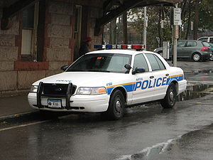 Metropolitan Transportation Authority Police Department - MTA Police vehicle at the Tarrytown Metro-North station
