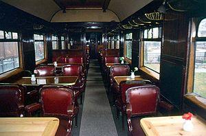 Railway Museum of Thessaloniki - Internal view of Orient Express car