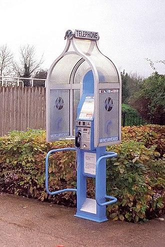 Mercury Communications - Mercury Communications payphone kiosk