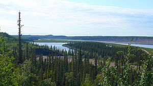Mackenzie River - The Mackenzie River in August 2009