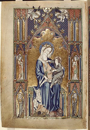 Howard Psalter and Hours - Image: Madonna and Child, De Lisle Psalter