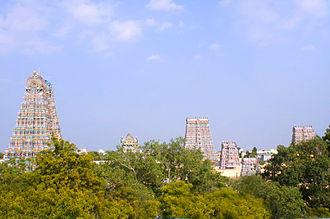 Dravidian people - Meenakshi Amman temple, dedicated to Goddess Meenakshi, tutelary deity of Madurai city
