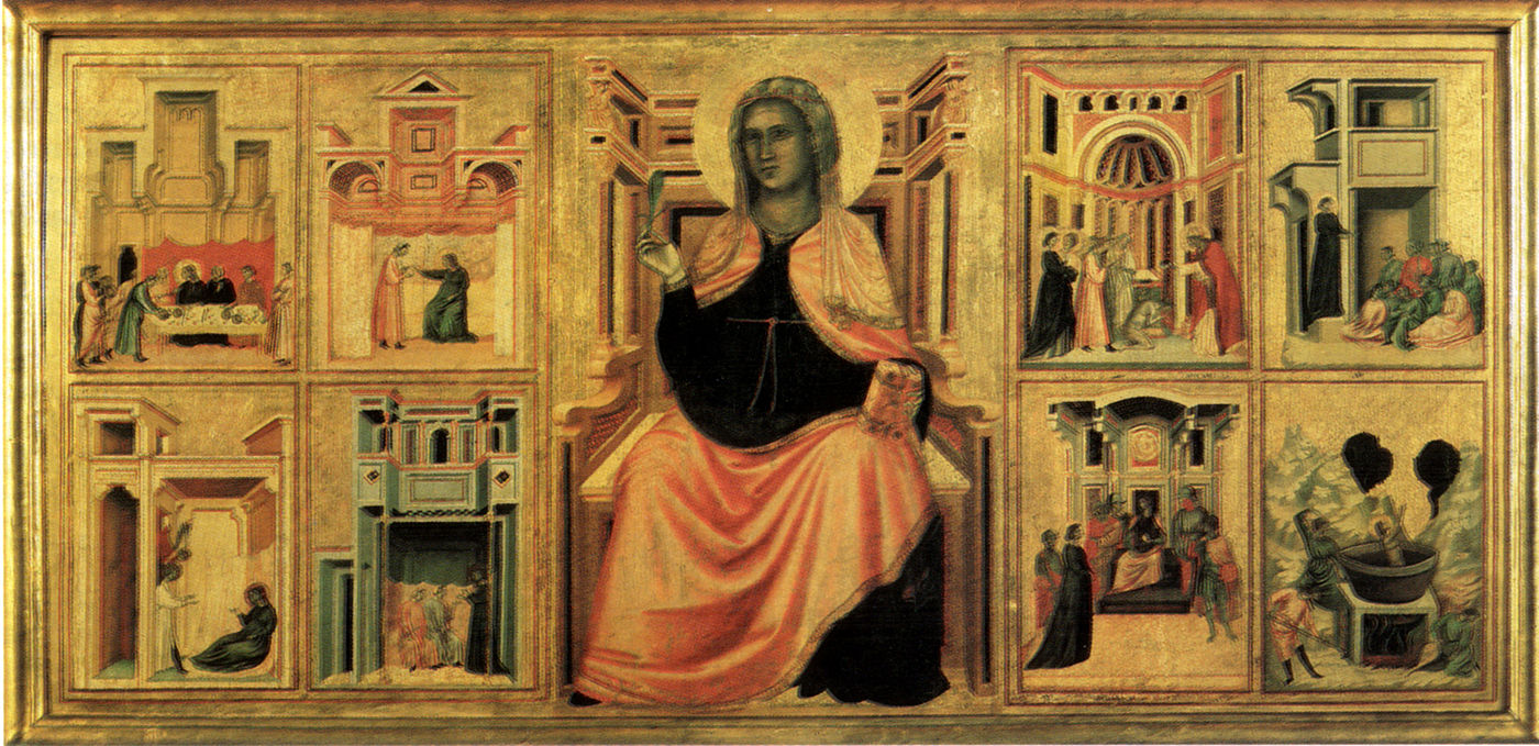 Saint Cecilia and scenes from her life