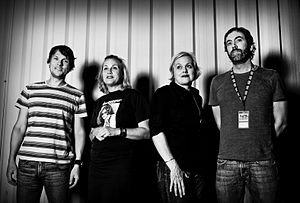 Magnapop - Magnapop in 2010, from left to right: Scott Rowe, Ruthie Morris, Linda Hopper, and Chad Williams