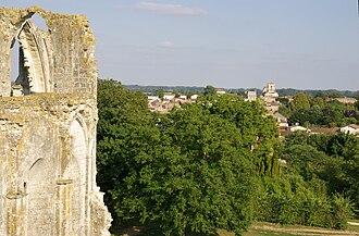 Maillezais - Maillezais seen from the Abbey of Saint-Pierre