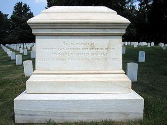 10th Maine Volunteer Infantry Regiment - 10th Maine Volunteer Infantry Regiment Memorial at Culpeper National Cemetery, VA