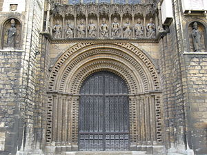 Lincoln Cathedral - Main door of the cathedral