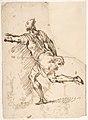 Male Figure Running (recto); Three Pen Studies of Male Heads (verso) MET DP809898.jpg