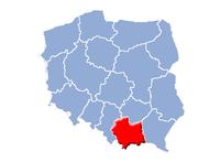 Lillepolens vojvodskaps beliggenhed i Polen.