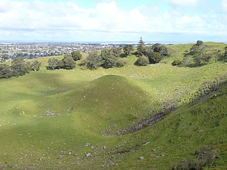 Māngere Mountain - Image: Mangere Mountain Central Crater Cone II