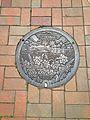 Manhole cover of Fukuma, Fukutsu, Fukuoka 2.jpg