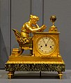 Mantel clock called The Reader, by Jean-Andre Reiche, active in Paris, 1752-1817, gilt bronze, chased and patinated, marble, enamel - Montreal Museum of Fine Arts - Montreal, Canada - DSC08693.jpg
