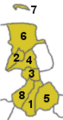 Map Municipalities of Landkreis Friesland numbered.png