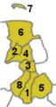 Map Municipalities of Landkreis Friesland numbered.png