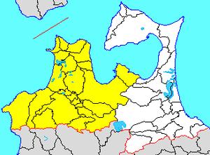 Hirosaki Domain - Image: Map aomori tsugaru district