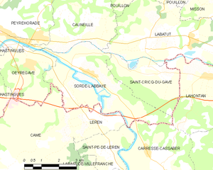 Map commune FR insee code 40306.png