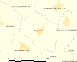 Mapa obce Bullecourt