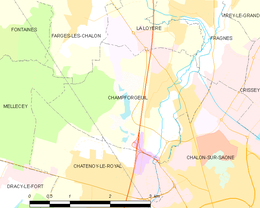 Champforgeuil – Mappa
