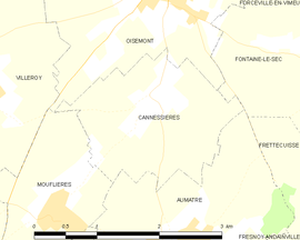 Mapa obce Cannessières