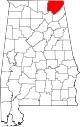 Map of Alabama highlighting Jackson County.svg