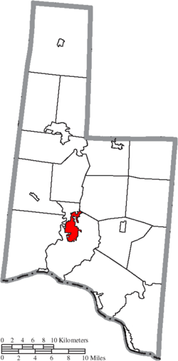 Location of Georgetown in Brown County