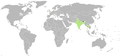 Map of Diplomatic missions of Bhutan.png