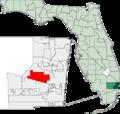 Map of Florida highlighting Plantation.png