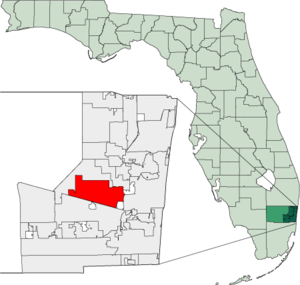 Map of Florida highlighting Plantation.png